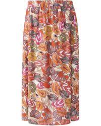 Emilia Lay La jupe longueur midi taille 50 - Rouge