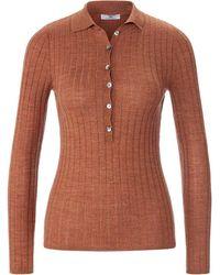 Peter Hahn - Polo-pullover aus 100% schurwolle-merino - Lyst