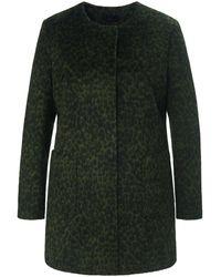 Emilia Lay Le manteau court à patte pressionnée taille 42 - Vert