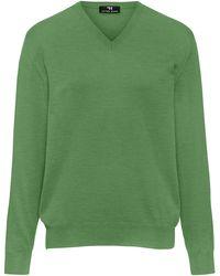 Peter Hahn V-pullover aus 100% schurwolle-merino extrafein - Grün