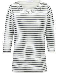Peter Hahn Rundhals-shirt 3/4 arm - Mehrfarbig
