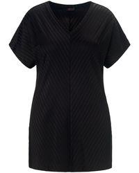 Emilia Lay V-shirt überschnittener schulter - Schwarz
