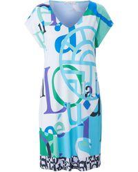 Féraud Kleid überschnittener schulter - Blau