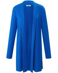 Peter Hahn Long-strickjacke - Blau