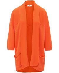 Peter Hahn Strickjacke aus 100% supima®-baumwolle - Orange