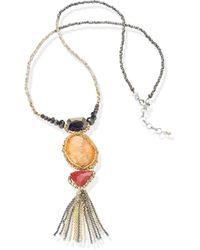 Emilia Lay Le collier perles verre avec pendentif - Orange