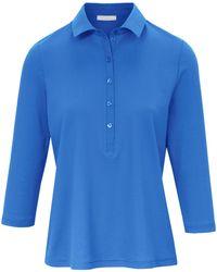 efixelle Polo-Shirt 3/4-Arm blau