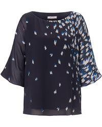 Elena Miro La blouse travaillée 2 épaisseurs taille 42 - Bleu
