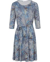 mayfair by Peter Hahn La robe jersey manches 3/4 taille 46 - Bleu