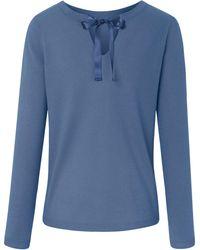 Peter Hahn Cashmere Rundhals-Pullover blau