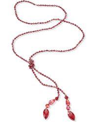 Emilia Lay Le collier avec petites perles verre - Rouge