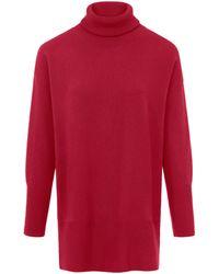 include Rollkragen-pullover - Rot