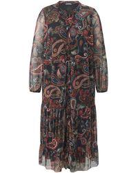 Samoon La robe voile imprimé infroissable taille 50 - Noir