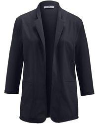 Peter Hahn - Jersey-blazer 3/4-arm - Lyst