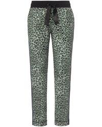 Canyon Le pantalon à imprimé léopard taille 38 - Vert