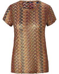 Riani Rundhals-shirt 1/2-arm - Mettallic