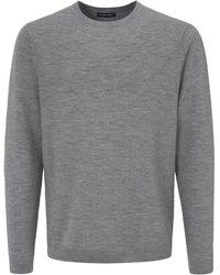 Louis Sayn Rundhals-Pullover aus 100% Schurwolle grau