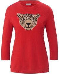 include Rundhals-pullover aus 100% premium-kaschmir - Rot