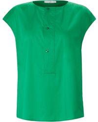Emilia Lay Bluse überschnittener schulter - Grün