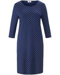 Anna Aura La robe jersey manches 3/4 taille 58 - Bleu