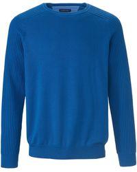 Louis Sayn Rundhals-pullover aus 100% baumwolle pima cotton - Blau