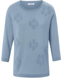 mayfair by Peter Hahn Le pull manches 3/4 taille 40 - Bleu