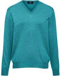 Peter Hahn - V-pullover aus 100% schurwolle-merino extrafein - Lyst