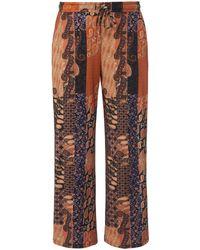Green Cotton Le pantalon longueur chevilles 100% coton taille 40 - Marron