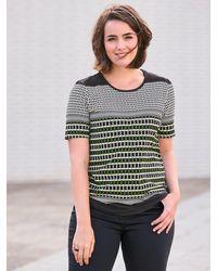 Emilia Lay Rundhals-shirt 1/2-arm - Schwarz