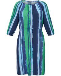 Samoon La robe manches 3/4 taille 50 - Bleu