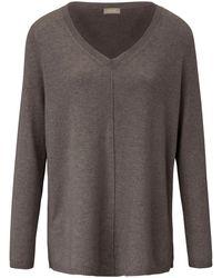 include V-pullover aus 100% premium-kaschmir - Natur