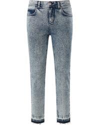 ANGELS Le jean 7/8 skinny modèle ornella fringe taille 48 - Bleu