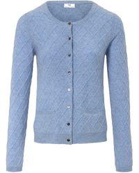 Peter Hahn Strickjacke aus 100% schurwolle-softwool - Blau