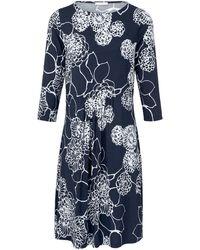 efixelle Jersey-Kleid 3/4-Arm blau