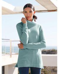 Peter Hahn Cashmere Rollkragen-pullover aus 100% premium-kaschmir - Grün