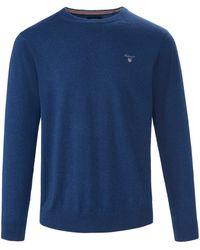 GANT Rundhals-pullover - Blau