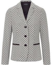 Basler Jersey-Blazer Reverskragen mehrfarbig - Grau