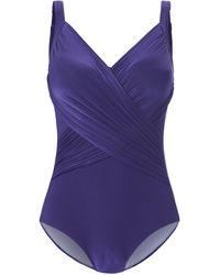 Grimaldimare Le maillot bain avec tissu froncé devant taille 44 - Violet