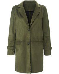 Emilia Lay Le manteau 3/4 col tailleur taille 46 - Vert