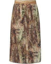 Emilia Lay La jupe plissée taille élastiquée brillante taille 42 - Multicolore