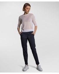 Peuterey Pantaloni in gabardine di cotone stretch - Blu