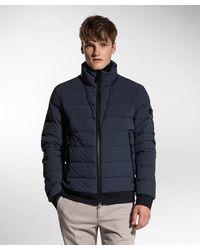 Peuterey Piumino in nylon e jersey - Blu