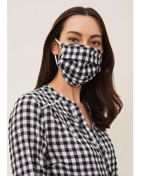 Phase Eight Gingham Face Mask - Blue