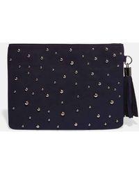 Phase Eight Joss Jewel Front Clutch Bag - Blue