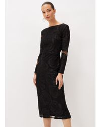Phase Eight Trina Rose Dress - Black