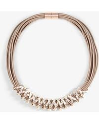 Phase Eight - Aliya Criss Cross Necklace - Lyst
