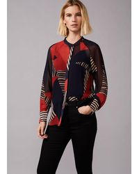 Phase Eight Clarice Graphic Print Blouse - Multicolour