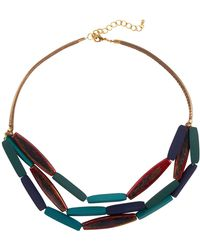 Phase Eight - Multi Row Wooden Necklace - Lyst