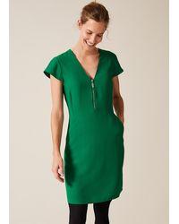 Phase Eight Victoria Zip Dress - Green