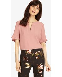 3187521f9b12bf Phase Eight Carissa Cold Shoulder Top in Metallic - Save 41% - Lyst